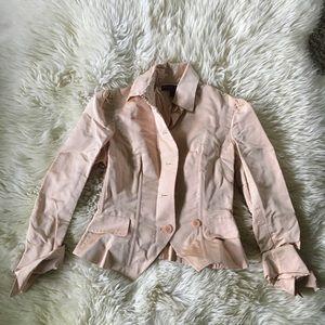 Ralph Lauren Purple Label Peach Pink Silk Jacket S